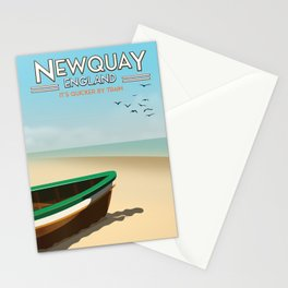 Newquay England beach poster. Stationery Cards