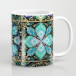 Colorful floral seamless pattern from squares Coffee Mug