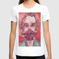 grateful dead T-shirts featuring Bob Weir Watercolor Portrait Grateful Dead by Acorn