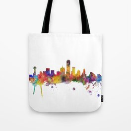Dallas Texas Skyline Tote Bag