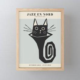 Vintage poster-Jazz festival-Jazz en nord -2013. Framed Mini Art Print