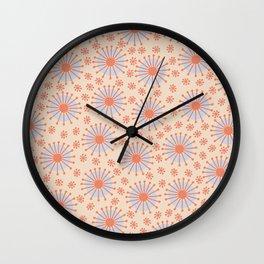 Carousel Retro Blue Wall Clock