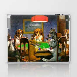Dogs Playing Poker A Friend in Need Laptop & iPad Skin