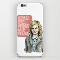 leslie knope iPhone & iPod Skins featuring Leslie Knope by Tiffany Willis