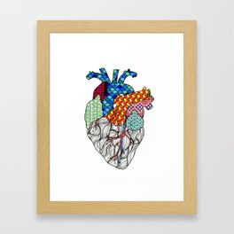 Geometric Heart Framed Art Print