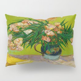 Oleanders Vincent van Gogh Oil On Canvas Floral Still Life Painting Pillow Sham