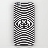 third eye iPhone & iPod Skins featuring Third Eye by cmyka
