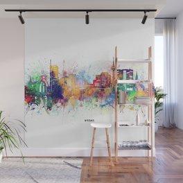 essen skyline artistic Wall Mural