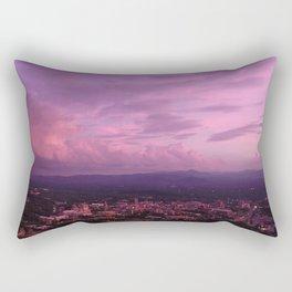 Asheville Fuschia Fluffy Golden Hour Rectangular Pillow