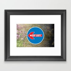 KEEP LEFT 01 Framed Art Print