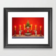 The Little Christmas Tree Framed Art Print
