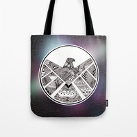 shield Tote Bags featuring SHIELD by Ruth Ms