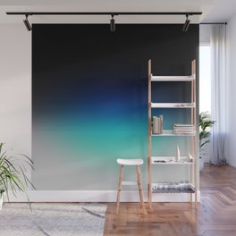 Blue Gray Black Ombre Wall Mural