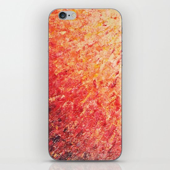 SAILOR'S SUNRISE - Beautiful Modern Abstract Crimson and Pink Nature Sky Sunset Ocean Reflection iPhone & iPod Skin