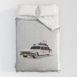 Ghostbusters Illustrated Ecto 1 Comforters