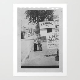 Two Boys on Chestnut St. Art Print