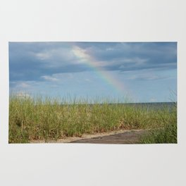 Rainbow at the end of the Path Rug