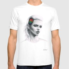 Fashion Rainbow. Mens Fitted Tee White MEDIUM