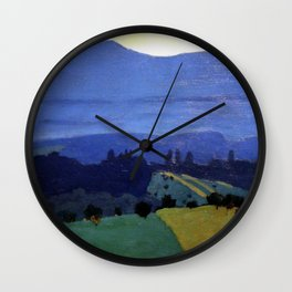 Felix Vallotton -  Landscape in the Jura Mountains (new color editing) Wall Clock