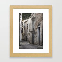 Sicilian Alley in Caltabellotta Framed Art Print