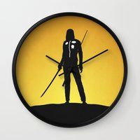 kill bill Wall Clocks featuring Kill Bill by Nick Kemp