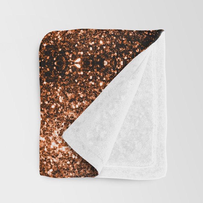 Beautiful Bronze Orange Brown glitters sparkles Throw Blanket