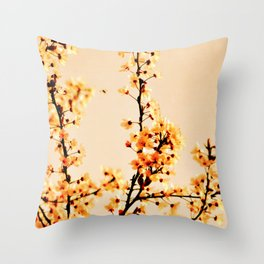 SPRING BLOSSOMS IN ORANGE Throw Pillow