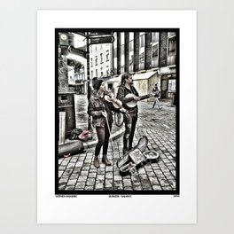 Buskers 'Galway' Art Print
