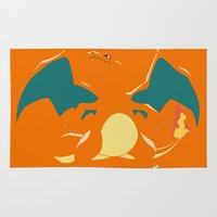 charizard Area & Throw Rugs featuring Charizard by SEANLAR94