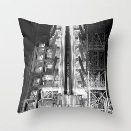 Big Joe Ready for Launch at Cape Canaveral Throw Pillow