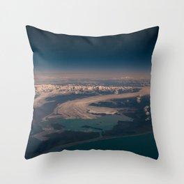 Aerial Glacier Three - Alaska Throw Pillow