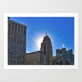 Halo of Detroit Art Print