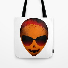 HALLOWEEN ALIEN HEAD Tote Bag