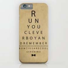 Run You Clever Boy - Doctor Who Vintage Eye Exam Chart Slim Case iPhone 6