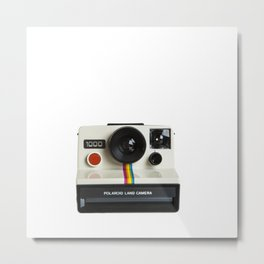 Polaroid 1000 Photorealism Painted on white background Metal Print