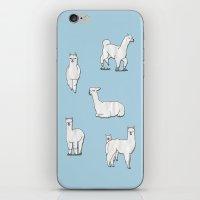 alpaca iPhone & iPod Skins featuring Alpaca by okayleigh