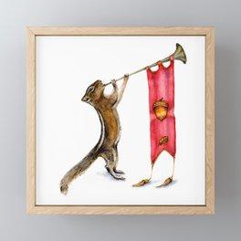 Herald Chipmunk Framed Mini Art Print