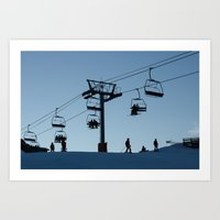 ski Art Prints featuring ski by Sébastien BOUVIER