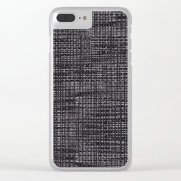 Black fibrous cloth texture abstract Clear iPhone Case
