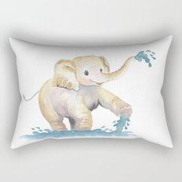 Baby Elephant 2 Rectangular Pillow