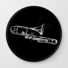 Piston Valve Trombone Wall Clock