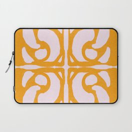 Abstract in Yellow and Cream Laptop Sleeve