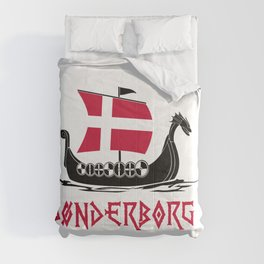Sonderborg  TShirt Denmark Flag Shirt Danish City Gift Idea Comforters
