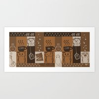fat Art Prints featuring Fat Fat Cafe by Astrobunny