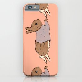 Jumping Bunny iPhone Case