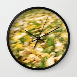 Autumn Leaves Abstract 7 Wall Clock