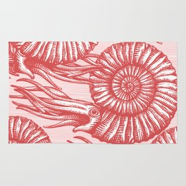 AMMONITE COLLECTION RED Rug
