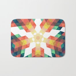 Retro star backdrop. Mosaic hipster background made of triangles Bath Mat