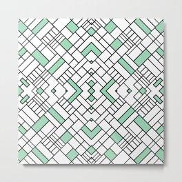 PS Grid 45 Mint Metal Print