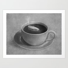 Whale in a tea cup  Art Print